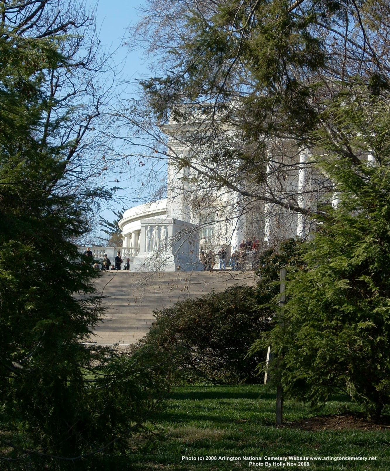 View Of The Tomb Of The Unknowns From Section 7-A Of Arlington National Cemetery, Photo By Holly, November 2008